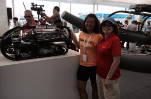 Marie with Grace Chia from Team Bumblebee NUS