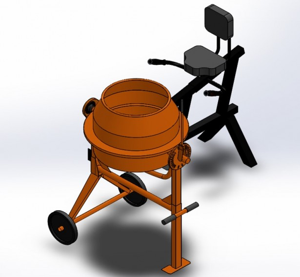 Pedal Powered Cement Mixer 2