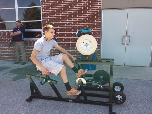 Pedal Powered Pitching Machine photo 1
