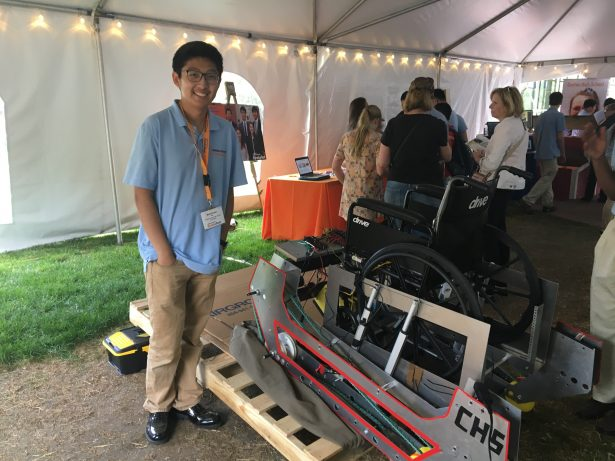 the Chattahoochee High School InvenTeam created an All-Terrain Accessibly Transport (ATAT) Robotic Wheelchair