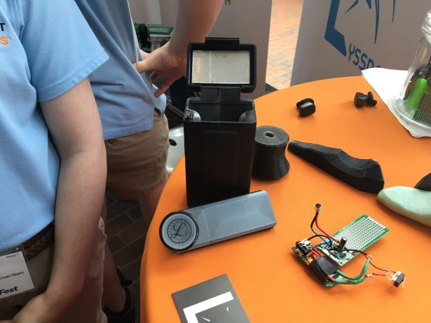 Students from Fairview High School invented a system comprised of a stethoscope and self-cleaning carrying case for clinical settings