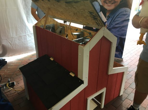 The Dayton High School InvenTeam presented an fully-automated chicken coop.