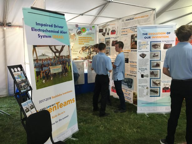 The Kealakehe High School InvenTeam created the Impaired Driver Electrochemical Alert System (IDEAS), which measures blood alcohol levels through a driver's skin