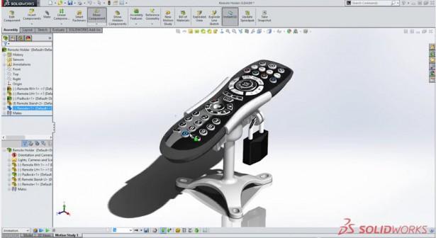 Remote Holder SolidWorks
