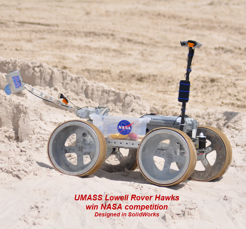 UMASS Lowell Rover Hawks Win NASA Competition