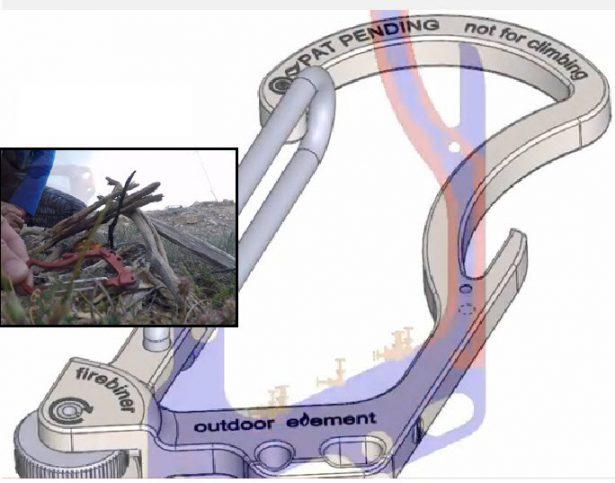 SOLIDWORKS Entrepreneur Firebiner Outdoor Element 3D Model & Simulationjpg