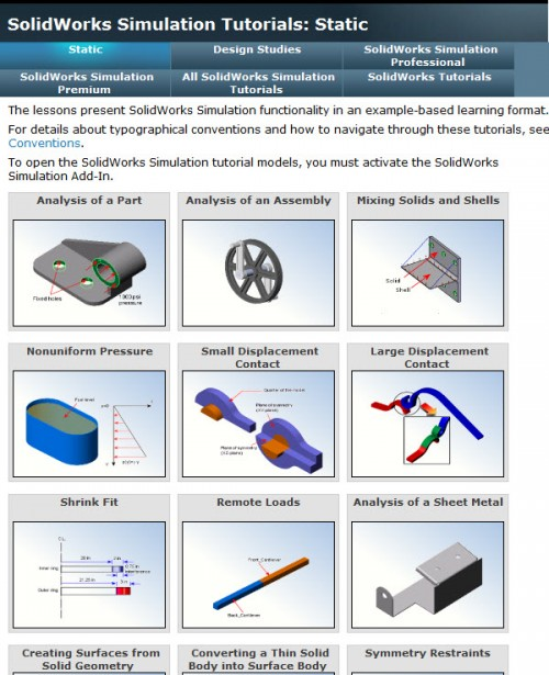 SolidWorks Simulation Tutorials