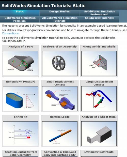 SolidWorks Simulation Tutorials