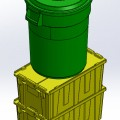 SolidWorks Tote Bin Assembly Recycle Rush