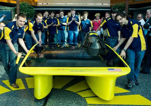 "University of Michigan World Solar Car Team Introduces ""Generation"""