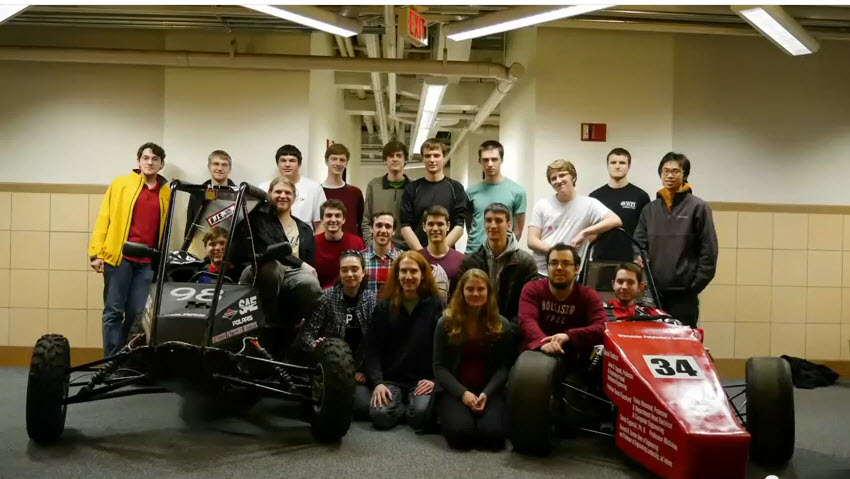 WPI SAE Students Drive Towards Competition