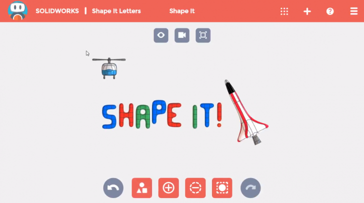 SOLIDWORKS Apps for Kids How-To: Add Shapes