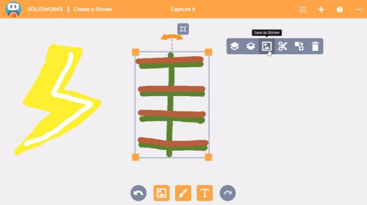 SOLIDWORKS Apps for Kids How-To: Create Stickers in Capture It