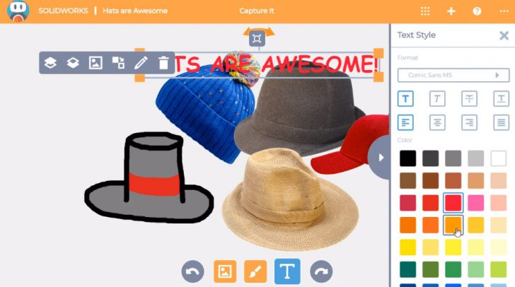 SOLIDWORKS Apps for Kids How-To: Edit Text and Its Color in Capture It