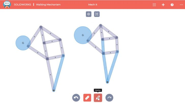 SOLIDWORKS Apps for Kids How-To: Walking Mechanism
