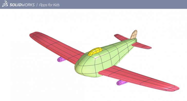 SOLIDWORKS Apps for Kids How-To: Shape an Airplane