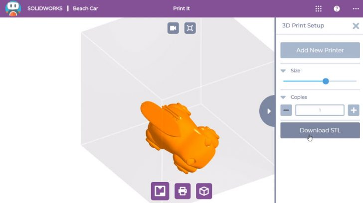 SOLIDWORKS Apps for Kids How-To: Change 3D Print Orientation
