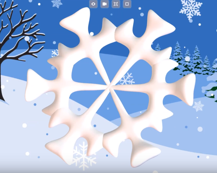 Make a Snowflake with SOLIDWORKS Apps for Kids!