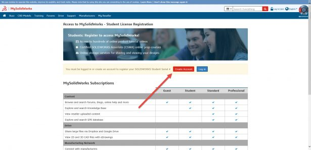 account creation method 1 mysolidworks subscriptions