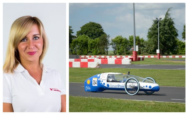 Left: Anna Dziedzic from SolidExpert. Right: The MuSHELLka racing in France.