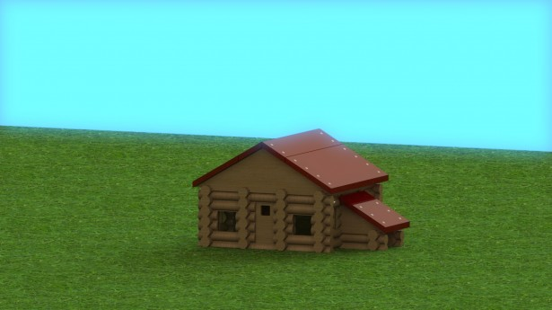 Log Cabin Created in SolidWorks
