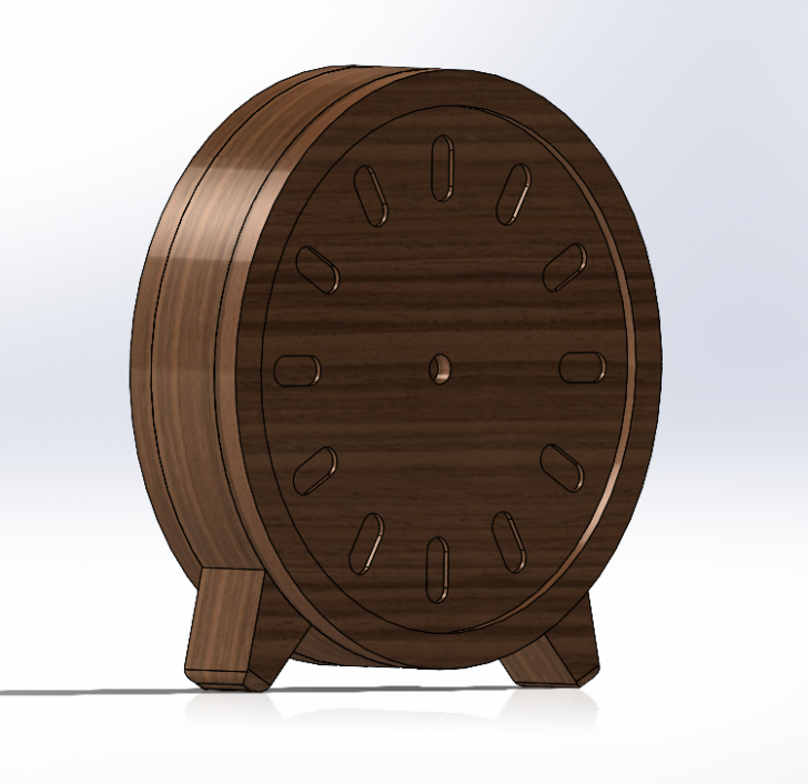 Clock Design with Exploded Views