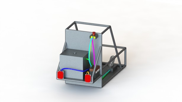 SAE Baja vehicle with routed cables in SolidWorks Electrical 3D