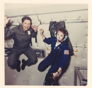 Charlie and Linda experiencing zero gravity at KC-135