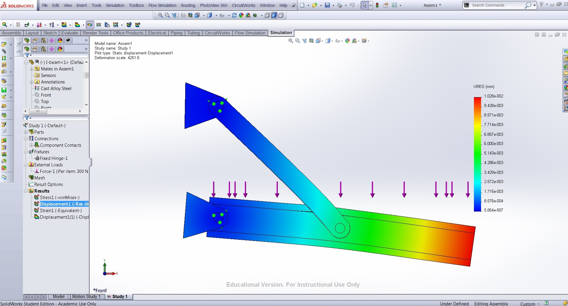 Use Solidworks in Stress Analysis - Measure Stresses