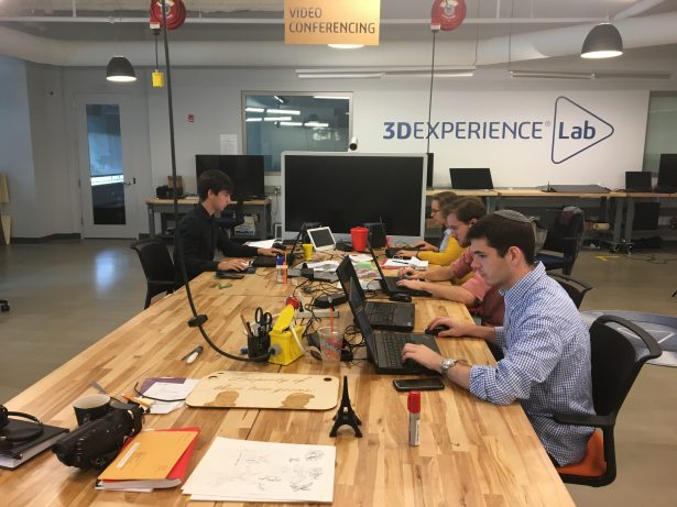 Summer interns in the 3DEXPERIENCE Lab