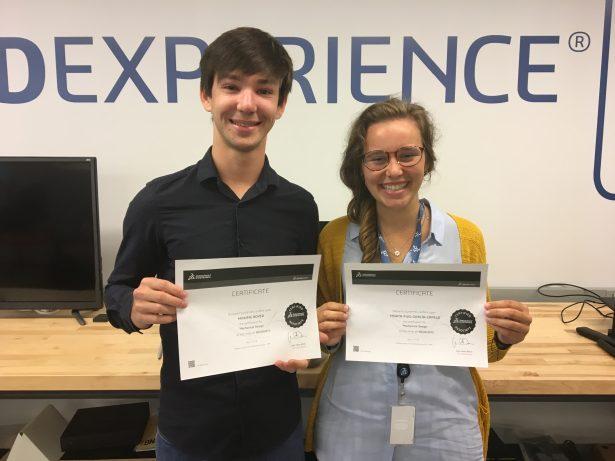 Summer interns Maxime Boyer and Marta Puig García-Capelo