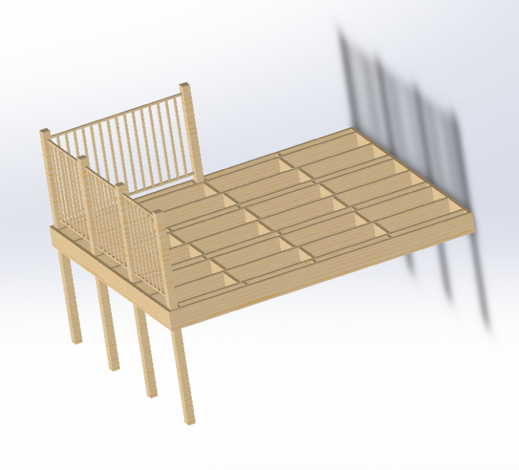 Building a Deck with SOLIDWORKS Weldment Tools, Part One