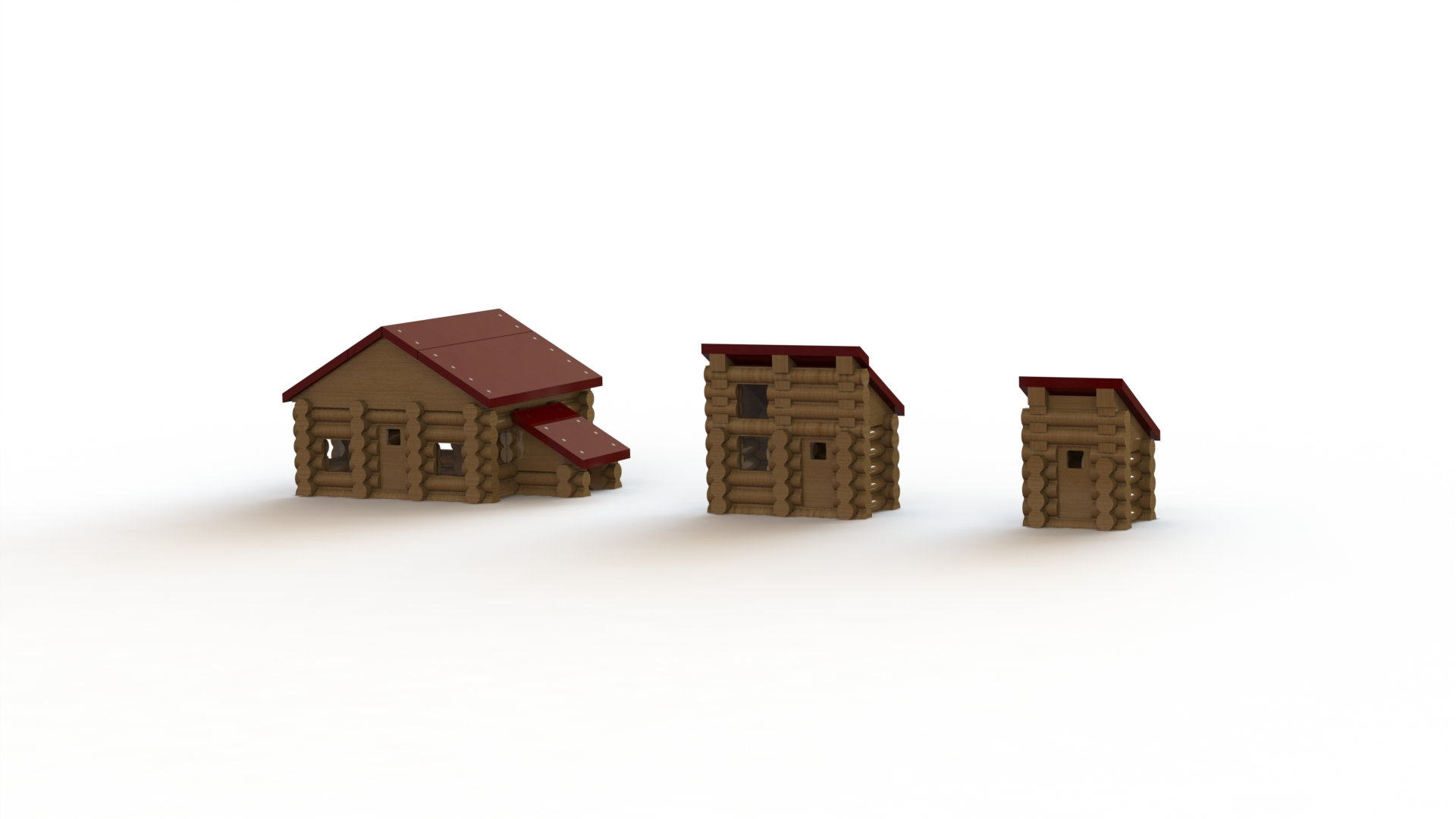 Creating a Log Cabin in SolidWorks – Part 20: Rendering the Log Cabin Assembly