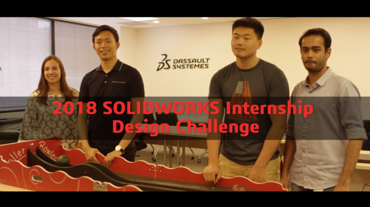 SOLIDWORKS Interns Bowled Over in 2018 Internship Design Challenge