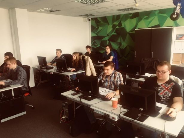 The Smart Power team learning how to use SOLIDWORKS at one of SOLIDEXPERT's four training locations.