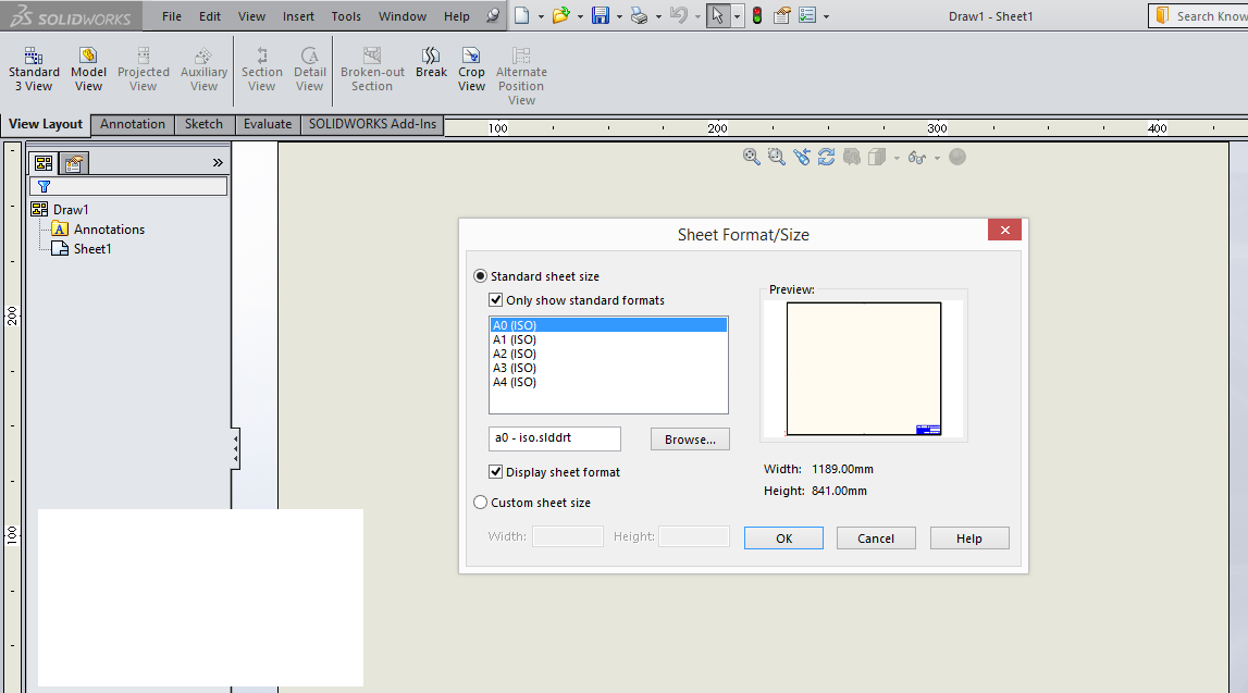 how to edit and customize sheet format in solidworks. Black Bedroom Furniture Sets. Home Design Ideas