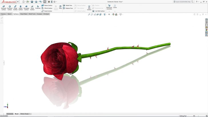 SOLIDWORKS Rose Tutorial – Part 1