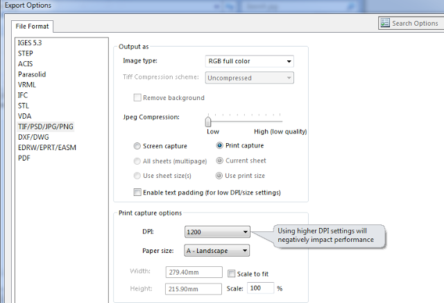 SOLIDWORKS TECH TIP: Image Quality Properties When Saving as JPG/TIFF