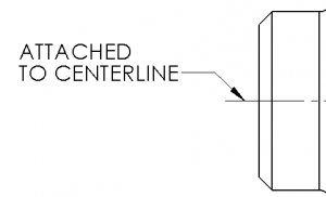 Attached to centerline