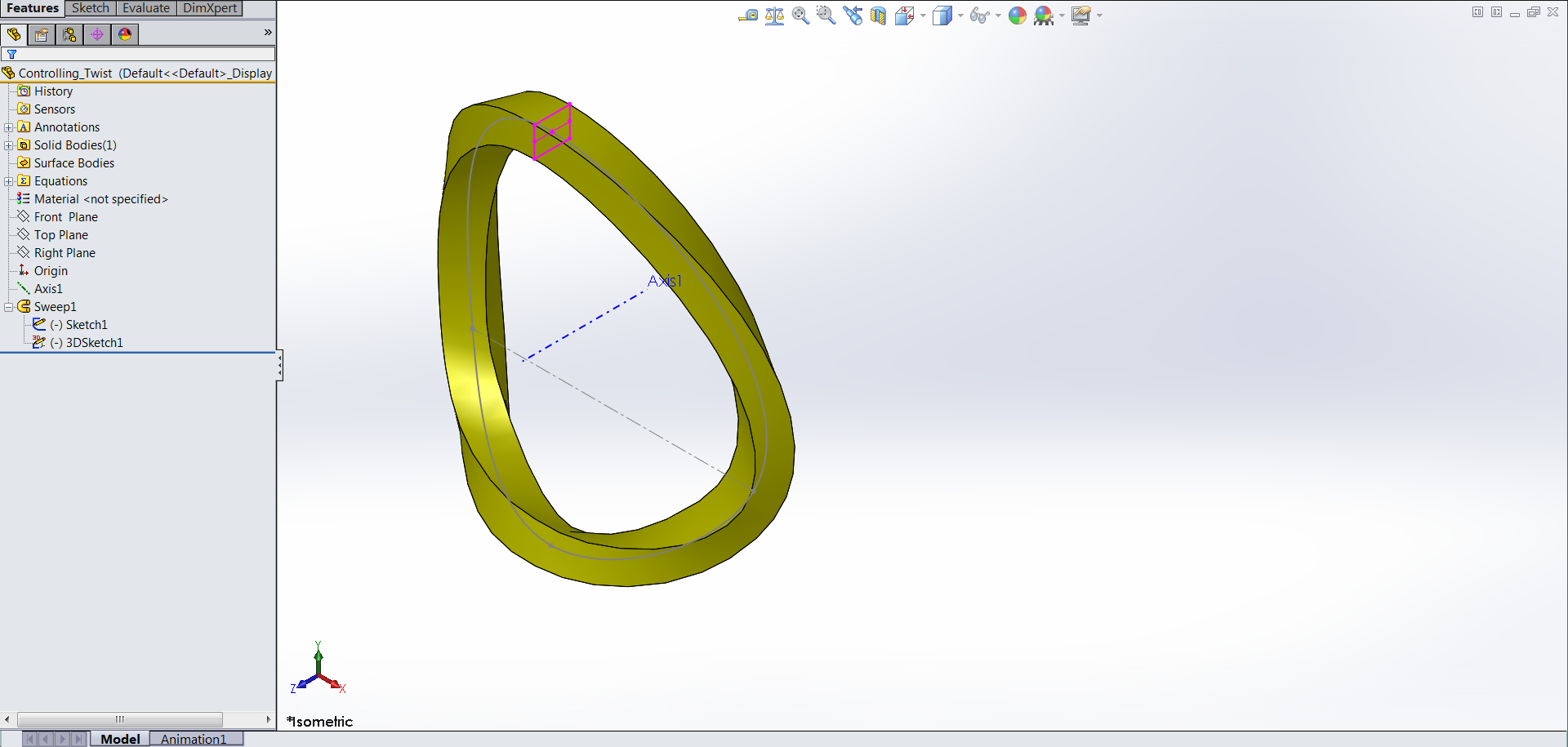 Advanced Sweep Feature Techniques in SOLIDWORKS