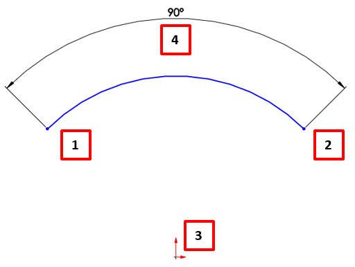 Angle Dimension based on points