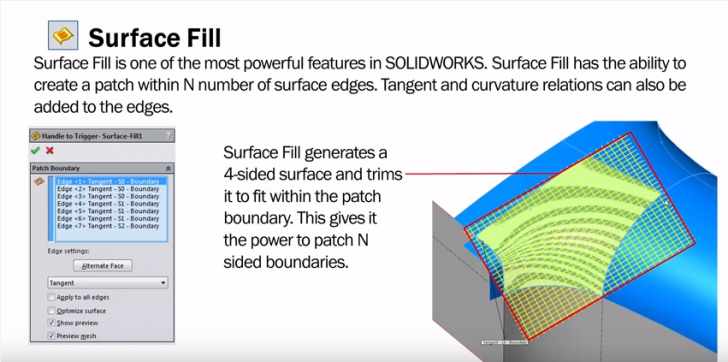 Surfaces & Splines   Boundary Surface VS Surface Fill