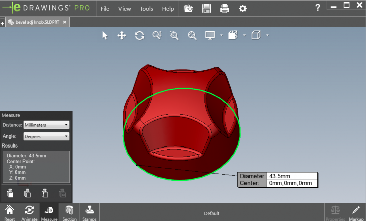 SOLIDWORKS eDrawings Viewer 2019 includes previous eDrawings Professional Features