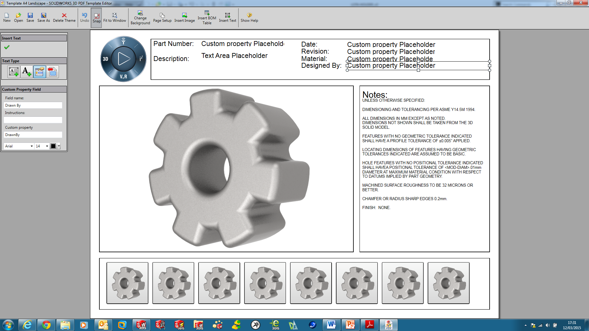 solidworks mbd and model break view
