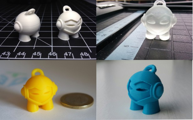 3DHubs Marvin 3D printed in different materials