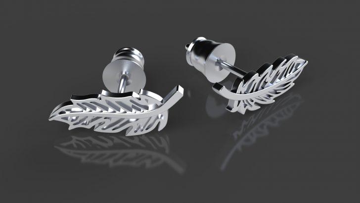 3D Printed Silver Earrings Tutorial