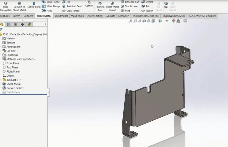 Using SOLIDWORKS 3D Interconnect With Sheet Metal Parts