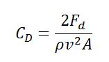 Drag Coefficient Equation