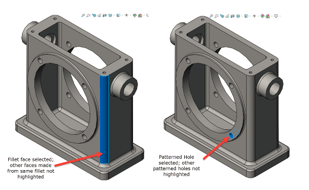 SOLIDWORKS: Show All Edges When Selecting Features