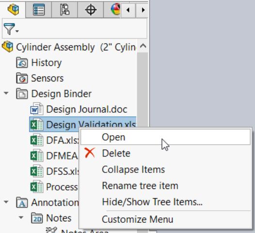 Design Binder folder